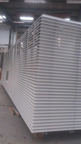 White Louvres getting manufactured